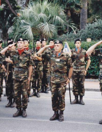 Albenga, agosto 2000. Giuramento solenne del 7° scaglione del B.A.R. del 157° Liguria.