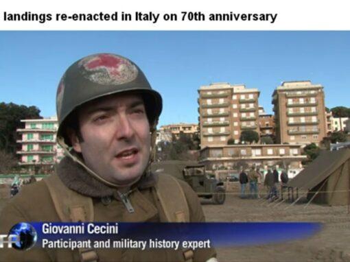 Agence France Press. Servizio della rievocazione per il 70° anniversario dello sbarco di Anzio.