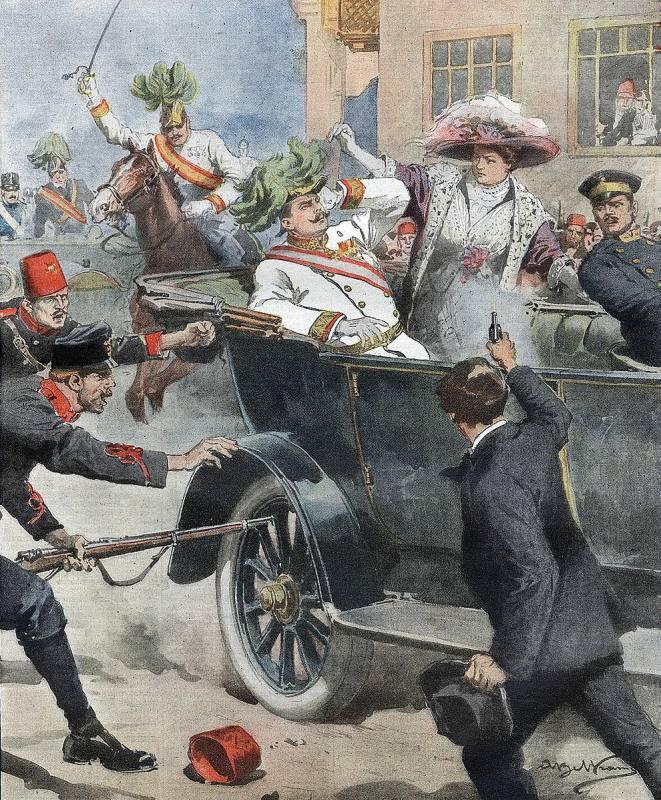 Assassinat de l'archiduc heritier d'Autriche Francois-Ferdinand