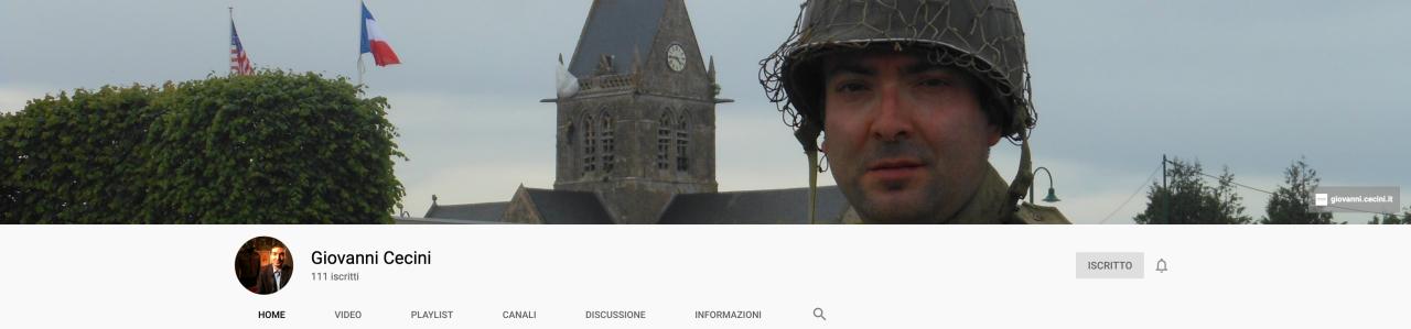 Giovanni Cenini youtube canale